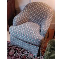 Paire de fauteuils crapeaux