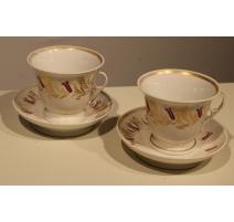 Paire de tasses en porcelaine de Paris