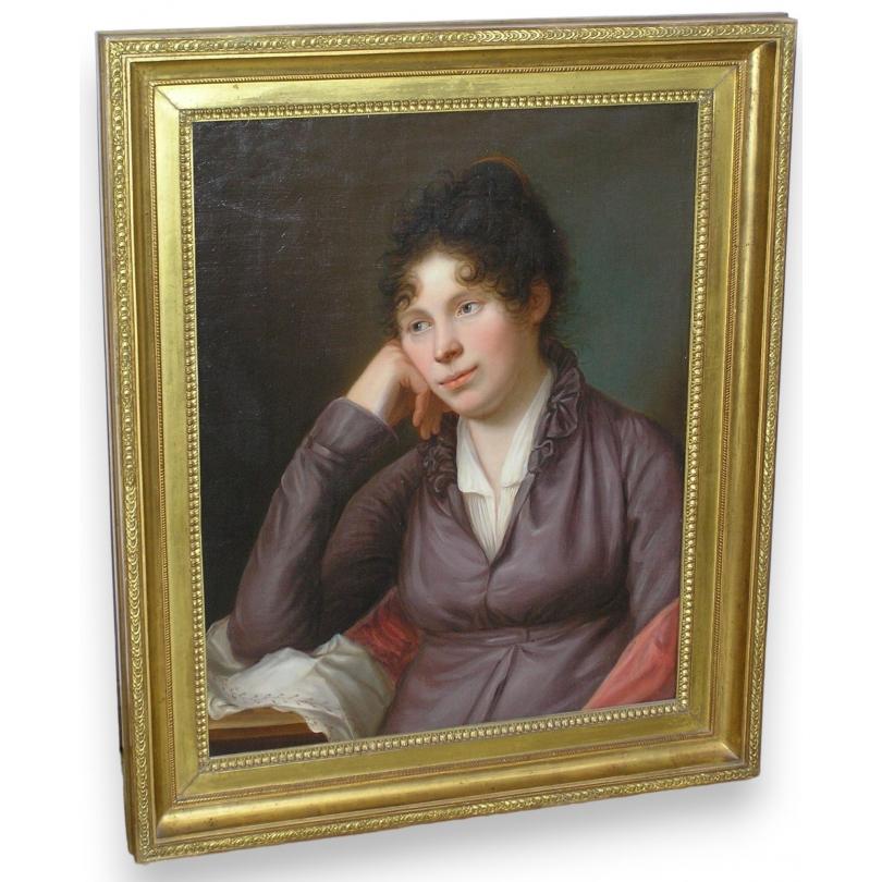 peintures tableau portrait d 39 une femme moinat sa antiquit s d coration. Black Bedroom Furniture Sets. Home Design Ideas