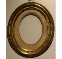 Cadre ovale doré