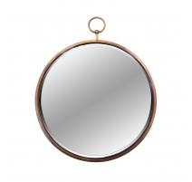 Miroir montre en fer coloris cuivre