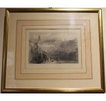 """Gravure """"Freyburgh"""" par W. H. BARTLETT"""
