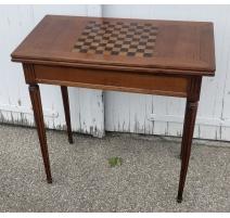 Table à jeux style Louis XVI échiquier et feutre