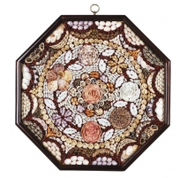 Tableau de coquillages octogonal