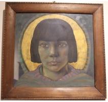 """Tableau """"Portrait"""" signé OLSOMMER"""