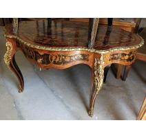Table violonnée Napoléon III marquetée