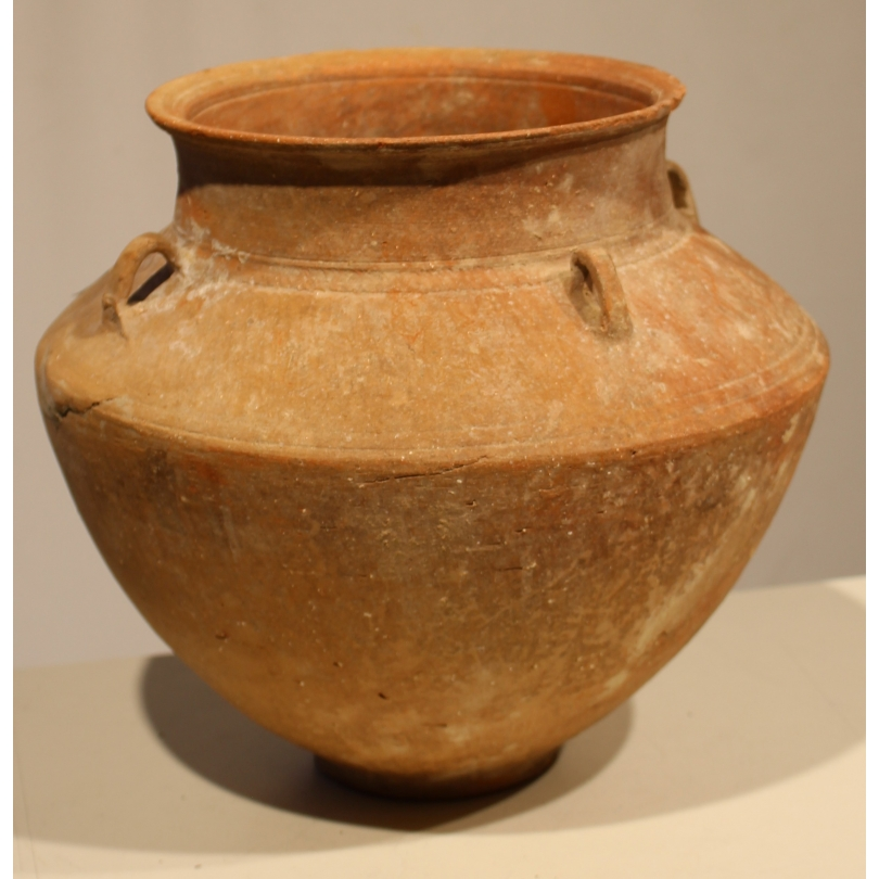 Vase précolombien en terre cuite avec anses