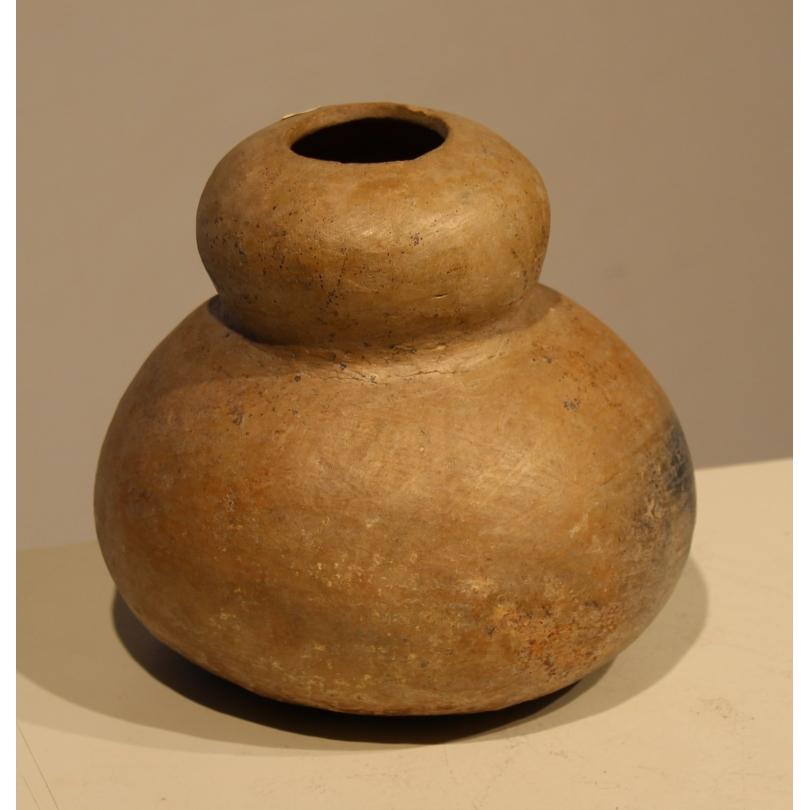 Vase précolombien en terre cuite double gourde