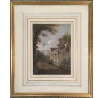 """Gravure """"La Treille"""" par A. FONTANÉSI 1855"""