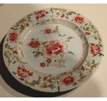 Assiette chinoise famille rose