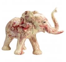 Eléphant en résine décor aux indiennes