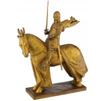 "Bronze doré ""Chevalier de Vérone"" signé H. MÜLLER"