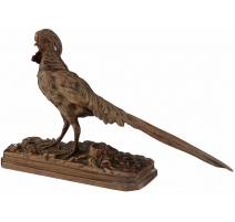 Faisan doré en bronze signé A. TRODOUX