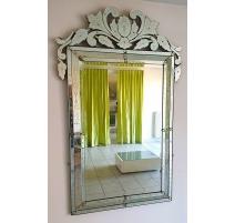 Miroir Murano, verres gravés