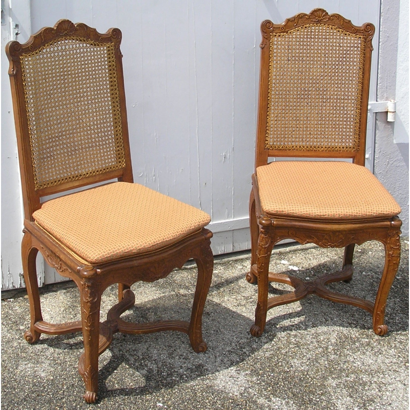 paire de chaises style r gence sur moinat sa antiquit s d coration. Black Bedroom Furniture Sets. Home Design Ideas