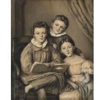 """Dessin """"Portrait de trois enfants"""""""