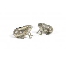 Paire de cendriers grenouilles