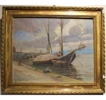 "Tableau ""La Rade"" signée Louis BAUDIT 1926"