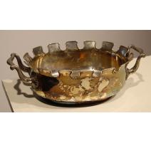 Rafraichissoir Verrière en métal argenté
