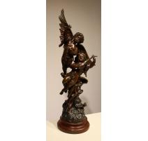 """Sculpture """"Amours musiciens"""" signée RUCHO"""