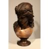 """Buste """"Femmne romaine"""" en bronze"""