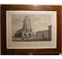 """Gravure """"Cathédrale de Berne"""" par G. LORY"""