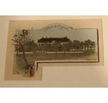 """Gravure """"Le Château de Cheseaux"""" par A. GANTNER"""