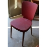 Chaise vintage en skai rouge