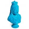 Buste de la reine Victoria en résine, feutre bleu