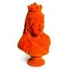 Buste de la reine Victoria en résine, feutre orang