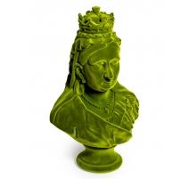 Buste de la reine Victoria en résine, feutre vert