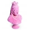 Buste de la reine Victoria en résine, feutre rose
