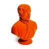 Buste du prince Albert en résine, feutre orange