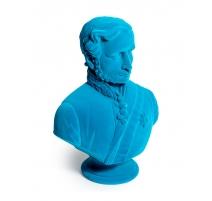 Buste du prince Albert en résine, feutre bleu