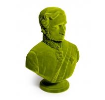Buste du prince Albert en résine, feutre vert
