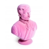 Buste du prince Albert en résine, feutre rose
