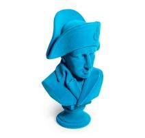 Buste de Napoléon en résine, feutre bleu