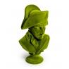 Buste de Napoléon en résine, feutre vert