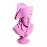 Buste de Napoléon en résine, feutre rose