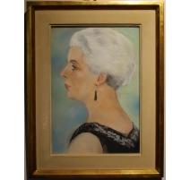 Pastel portrait de Mme Pastori