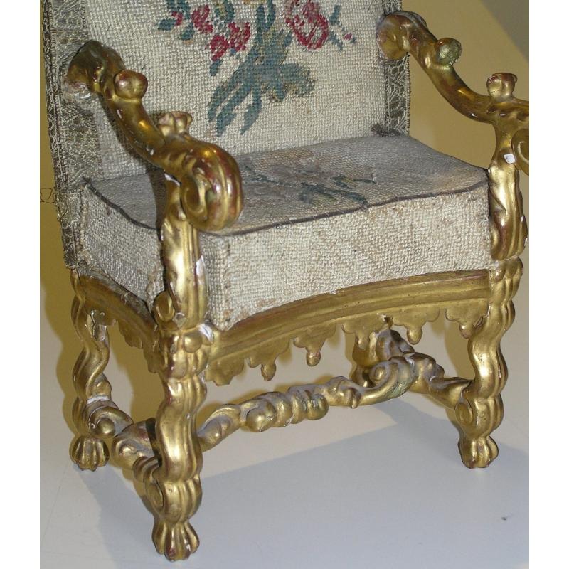 fauteuil miniature louis xiv sur moinat sa antiquit s. Black Bedroom Furniture Sets. Home Design Ideas