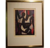 """Estampe """"Affiche Kaplan Gallery"""" signé ATLAN"""