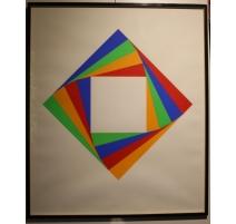 """Sérigraphie """"Composition géométrique"""" signé BILL"""