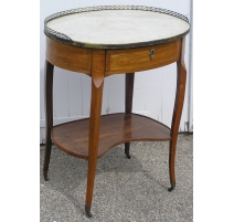 Pedestal table oval with two trays