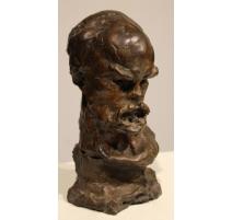 "Bronze ""Portrait de Paul Verlaine"" signé A. RODO"