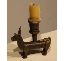 Bougeoir Cerf en bronze