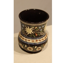 Vase boule en faïence de Thoune Brune