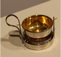 Passoir à thé en métal argenté