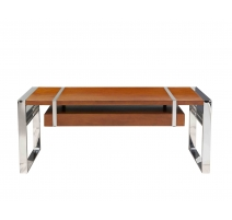 Table basse Time Square, teinte noyer
