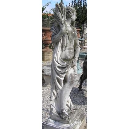 Paire de statues de jardin.